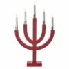 Kép 2/5 - EMOS karácsonyi dekorációs világítás íves piros gyertyák, 5 LED, IP20, meleg fehér