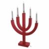 Kép 3/5 - EMOS karácsonyi dekorációs világítás íves piros gyertyák, 5 LED, IP20, meleg fehér