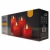 Kép 1/4 - EMOS karácsonyi dekorációs világítás 4 db piros gyertya, IP20, vintage