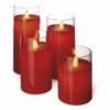Kép 2/4 - EMOS karácsonyi dekorációs világítás 4 db piros gyertya, IP20, vintage