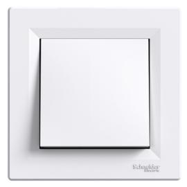 Schneider Electric Asfora - Kapcsoló, váltókapcsoló, komplett, fehér