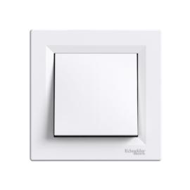 Schneider Electric Asfora - Kapcsoló, keresztkapcsoló, komplett, fehér