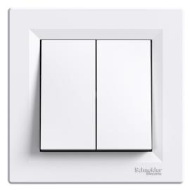 Schneider Electric Asfora - Kapcsoló, csillárkapcsoló, komplett, fehér