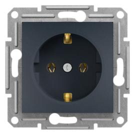 Schneider Electric Asfora - Aljzat 2P+F, keret nélkül, antracit
