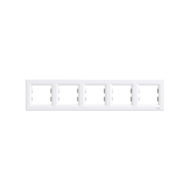 Schneider Electric Asfora - Keret, 5-ös, fehér