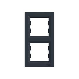 Schneider Electric Asfora - Keret, függőleges, 2-es, antracit