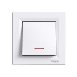 Schneider Electric Asfora - Kapcsoló, váltókapcsoló, jelzőfény, komplett, fehér