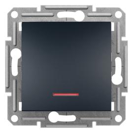 Schneider Electric Asfora - Kapcsoló, váltókapcsoló, jelzőfény, keret nélkül, antracit