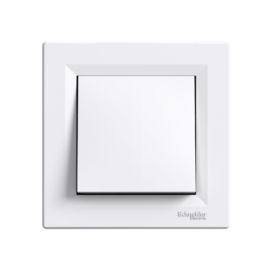 Schneider Electric Asfora - Nyomógomb, komplett, fehér