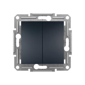 Schneider Electric Asfora - Kettős nyomókapcsoló, keret nélkül, antracit