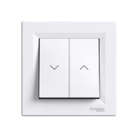 Schneider Electric Asfora - Redőnyvezérlő kapcsoló, komplett, fehér