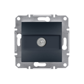 Schneider Electric Asfora - TV aljzat, átmenő, 8 dB, keret nélkül, antracit