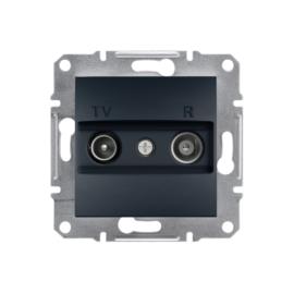 Schneider Electric Asfora - TV-R aljzat, átmenő, 4 dB, keret nélkül, antracit