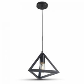 V-TAC Champion-III geometrikus függeszték (E27) fekete