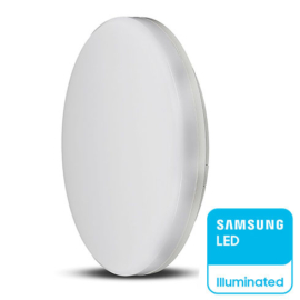 V-TAC IP44 LED panel falon kívüli - kör (25W) Samsung Chip,hideg fehér