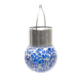 Nortene Lightis függő szolár LED lámpa - sötétkék szín, mozaik üveg