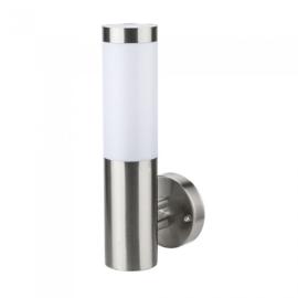 V-TAC Inox Steel kültéri oldalfali lámpa (E27) rozsdamentes acél