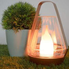 Nortene Aladin solar exluzív LED csodalámpás, tűz effektel (tölthető akkumulátorral) - Arany