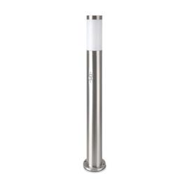 V-TAC Inox Steel kültéri álló lámpa (E27) rozsdamentes acél, mozg. érz., 80 cm