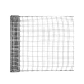 Nortene SQUARE műanyag kertirács, ezüst, 1 x 5 m, 10x10 mm szemméret