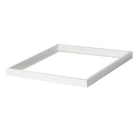 Kanlux Bravo kiemelő keret LED panelhez, 60x60x4.5cm, összeszerelt, fényes fehér