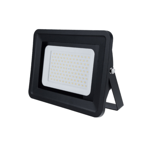 LED reflektor 150W, fekete, SMD, 100°, fehér fény - IP65 (FL5818)