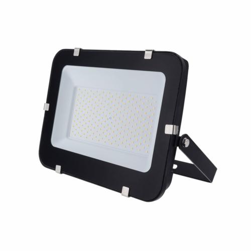 LED reflektor 150W, SMD fekete 150°, IP65,semleges fehér fény, 100cm kábellel (FL5793)