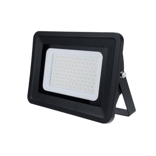 LED reflektor 200W, fekete, SMD, 100°, fehér fény - IP68 (FL5839)