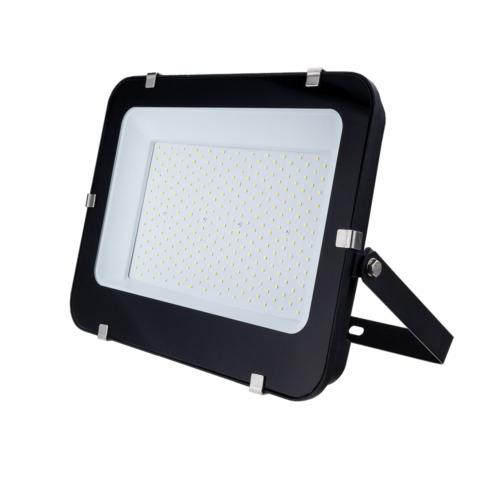 LED reflektor 200W, SMD fekete 150°, IP65,semleges fehér fény, 100cm kábellel (FL5795)