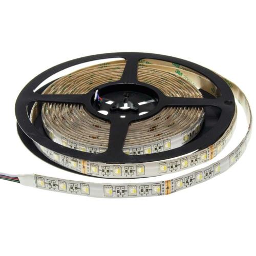 LED szalag, 12V, 60 SMD/m,12mm, 1600Lm/m IP65, RGB+fehér fény (ST4487)