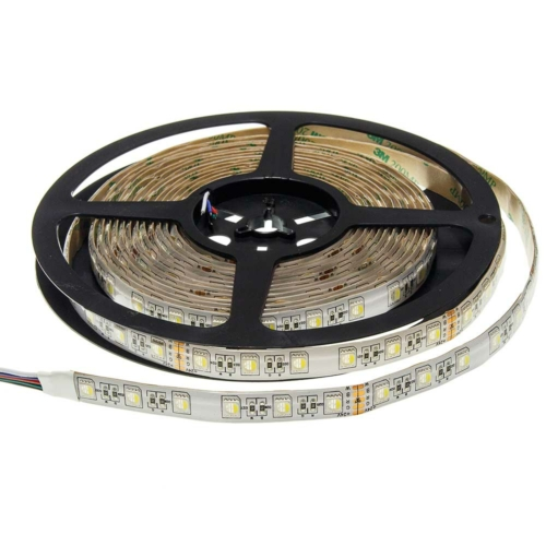 LED szalag, 12V, 60 SMD/m,12mm, 1600Lm/m, IP65, RGB+meleg fehér fény (ST4488)