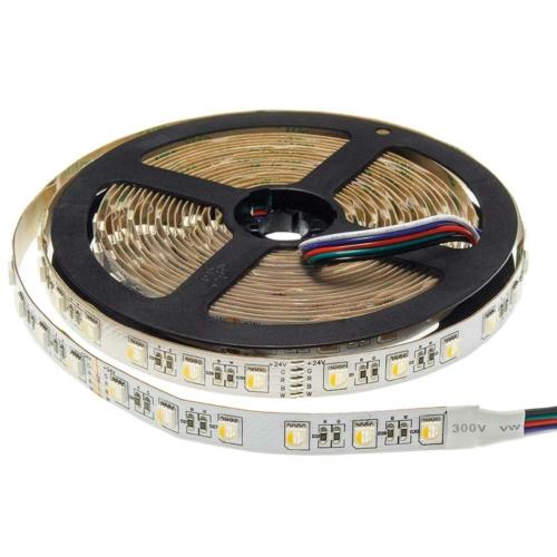LED szalag, 24V, 12mm, 16W/m, 1600LM/m, nem vízálló, RGB+Meleg fehér fény (ST4482)