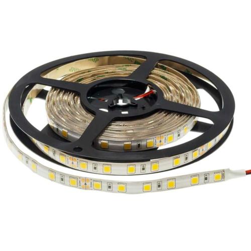 LED szalag, 5050, 24V, 60 SMD/m, vízálló, semleges fehér fény (ST4854)