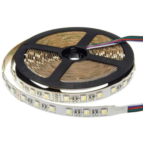 LED szalag, 5050, 24V, 60SMD/m, nem vízálló, 12MM 9,5W/m, 600LM/m, RGB+WH+WW (ST4480)