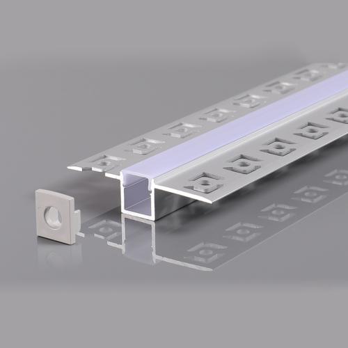 LED szalaghoz alumínium profil 13,3*56mm - 2m - szürke (OT5162)