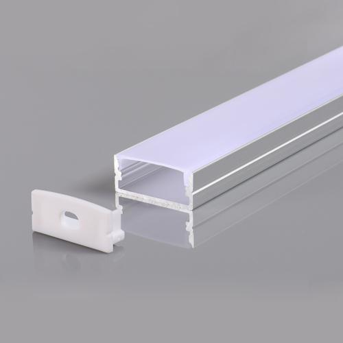 LED szalaghoz alumínium profil 23,5*10*21,5mm - 2m - szürke (OT5183)