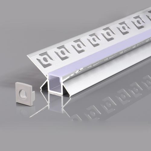 LED szalaghoz alumínium profil 48*28mm - 2m - szürke (OT5166)