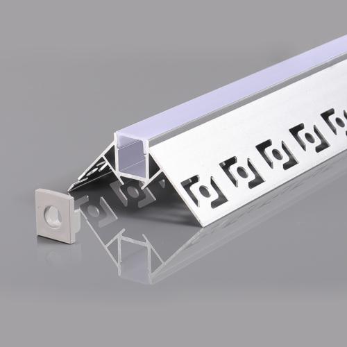 LED szalaghoz alumínium profil 53*25mm - 2m - szürke (OT5165)
