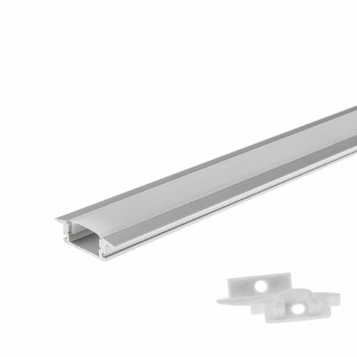 LED szalaghoz alumínium profil 6 mm - 1 m - beépíthető (OT5193)