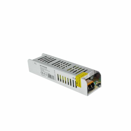 Tápegység LED szalagokhoz, SLIM, 60W, 5A, 12V, fém ház (AC6131)