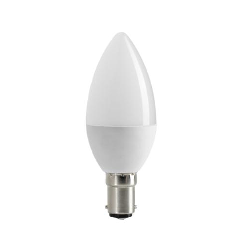 LED gyertya, B15, C35, 6W, 230V, meleg fehér fény (SP1956)