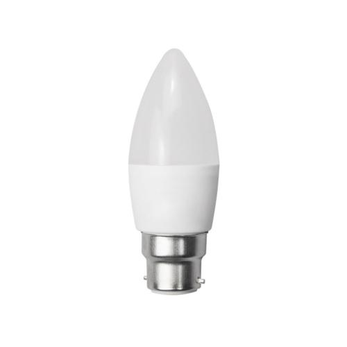 LED gyertya, B22, C35, 6W, 230V, meleg fehér fény (SP1952)