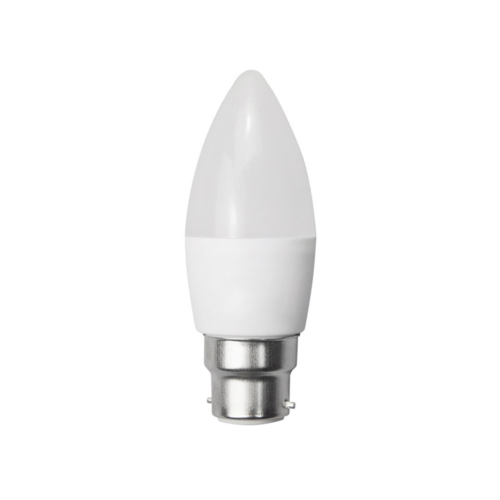 LED gyertya, B22, C35, 6W, 230V, meleg fehér fény - DIMMELHETŐ (SP1953)