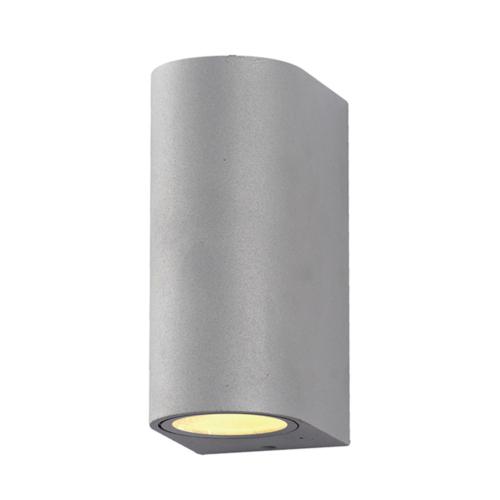 Ezüst fali lámpa, alumínium, 2 x GU10-es foglalattal, 230V, IP54 (WL7439)