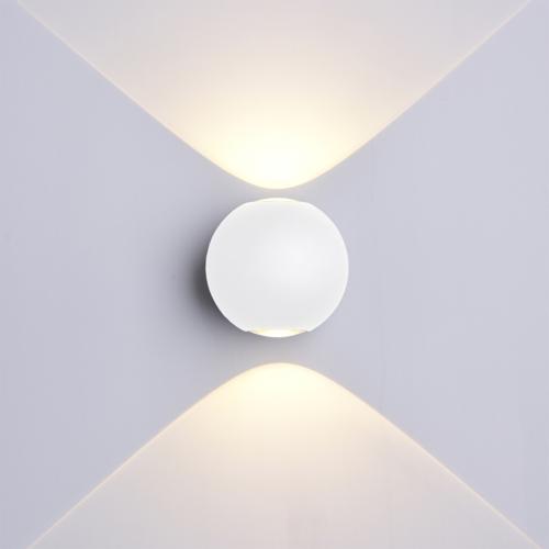 Fehér fali lámpa, 230V, 6W, 660LM, 3000K - IP54 (WL7493)