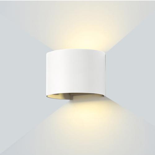 Fehér fali lámpa, 230V, 6W, 660LM, 4000K - IP54 (WL7466)
