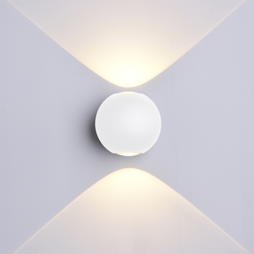 Fehér fali lámpa, 230V, 6W, 660LM, 4000K - IP54 (WL7496)