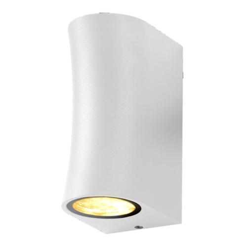 Fehér fali lámpa, alumínium, 2 x GU10-es foglalattal, 230V, IP44 (WL7447)