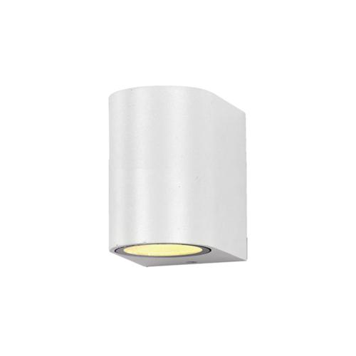 Fehér fali lámpa, alumínium, GU10-es foglalattal, 230V, IP54 (WL7432)