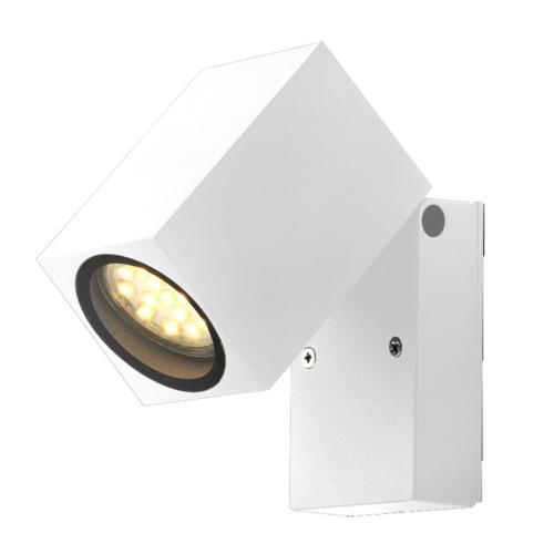 Fehér fali lámpa, billenthető, alumínium, GU10-es foglalattal, 230V, IP44 (WL7444)
